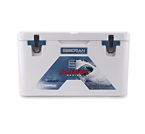 Siberian Coolers Alpha Pro Series 45 Quart in White Roto Molded Includes Accessories