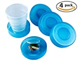Best Collapsible Cups - Collapsible Travel Cup - Set of 4 Plastic Review