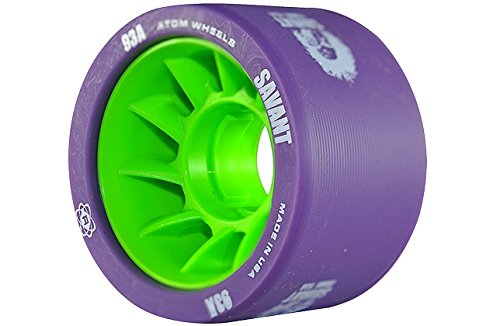Atom Savant Skate Wheels Purple 93A Set of 8