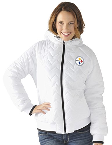 "Pittsburgh Steelers Women's NFL G-III ""Drop Back"" Full Zip Hooded Quilted Jacket from SteelerMania"