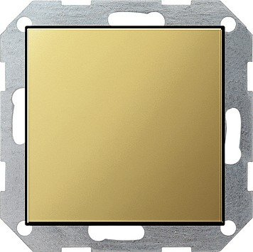 Gira 0268604 Blank Cover RAL9005 with Tragring System 55 Brass