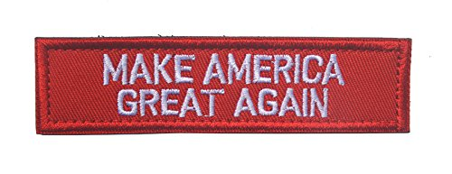 - Trump 2020 Morale Sewn On Patch Make America Great Again Tactical Military Army Gear Embroidered Hook&Loop Fastener Backing Emblem Collectable Patches (Make America Great Again(Red))
