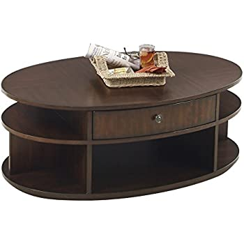 Progressive Furniture P474 15 Metropolitan Oval Castered Lift Top Cocktail Coffee  Table