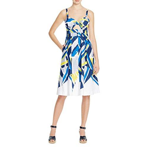 Milly Womens Jordan Geometric Bow Party Dress Multi 10 by MILLY