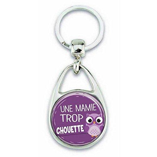 ANGORA Porte Cl/és pour Une Mamie Trop Chouette Couleur Violet Porte Clefs Mamie