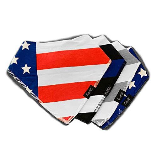 Bandana Bibs   All American Flag Set