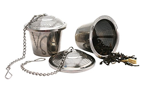 Best Review Of Loose Leaf Tea Strainer Steeper Infuser (Set of two). Food Grade Stainless Steel
