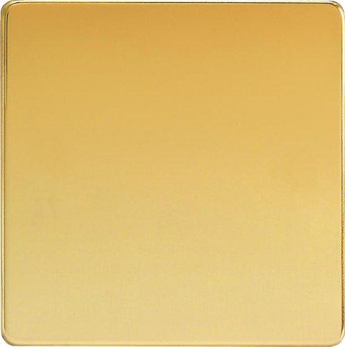 XDVSBS Varilight 1G Blank Plate Dimension Screwless Polished Brass