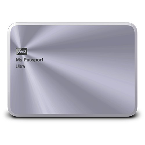 WD 2TB Silver My Passport Ultra Metal Edition Portable  External Hard Drive  - USB 3.0  - WDBEZW0020BSL-NESN by Western Digital