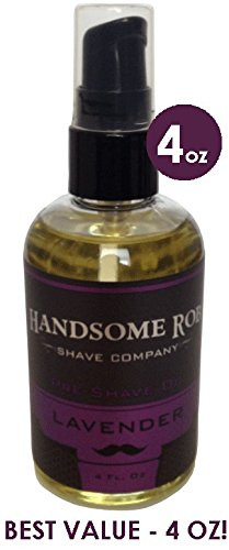 Lavender Pre Shave Oil - 4oz! By Handsome Rob Shave Co.