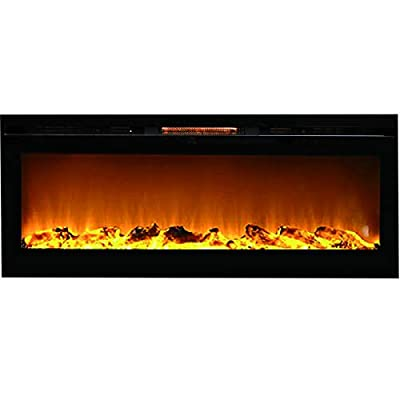 "Regal Flame Fusion 50"" Log Built-in Ventless Recessed Wall Mounted Electric Fireplace Better Than Wood Fireplaces, Gas Logs, Inserts, Log Sets, Gas, Space Heaters, Propane"