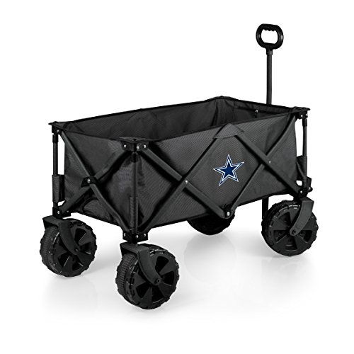 PICNIC TIME NFL Dallas Cowboys Elite Edition Collapsible Adventure Wagon with All-Terrain Wheels