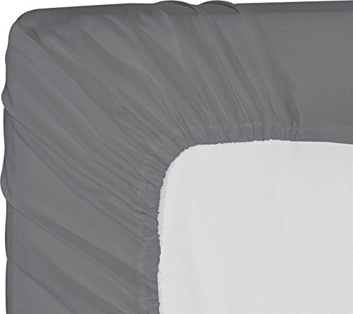 Utopia Bedding Cotton sateen Fitted Sheet (Queen, Grey) – Premium Quality Combed Cotton Long Staple Fiber - Breathable, Durable & Comfortable with Deep Pocket (Case 220 Percale Pillow)