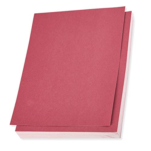 Shimmer Paper - 96-Pack Rose Metallic Cardstock Paper, Double Sided, Laser Printer Friendly - Perfect for Weddings, Baby Showers, Birthdays, Craft Use, Letter Size Sheets, 8.7 x 0.03 x 11 (Best Cardstock Laser Printer)
