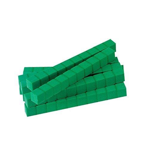 hand2mind 5577 Base Ten Rods, Green (Pack of 20)