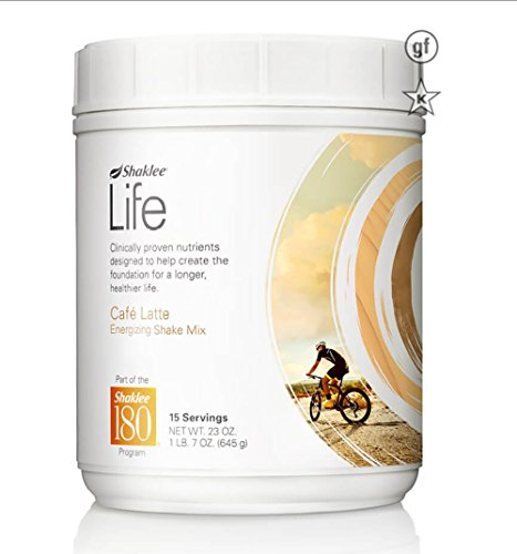Shaklee Life Energizing Shake delicious non-GMO protein shake with pre- and probiotics Coffee flavor -Cafe Latte 23oz