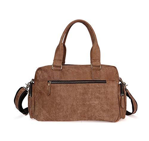 Borsa tracolla portatile a da marrone pelle unisex vintage tracolla in borsa borsa viaggio Fzyqy a rOqfprwzS