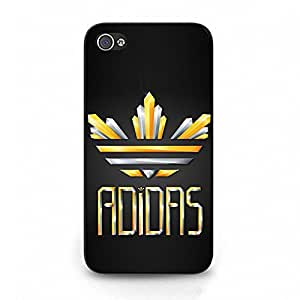 Shining Logo Adidass Phone Case Fantastic Hard Cover Case For Iphone 4 4s