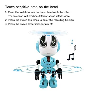 sholdnut Mini Talking Robots Toy for Kids,Travel Pocket Toy with Posable Body, Smart Educational Stem Toys, Voice Changer and Robotics for Kid: Toys & Games