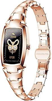 Pulseira De Relógio Feminino Smartwatch Rosa Dourado Novas/Elegantes/Lindo Rastreador De Atividades Bluetooth