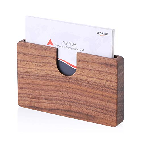 iness Card Holder Wood Business Card Case Vegan Name Card Holder Unique Gift for Women Men ()