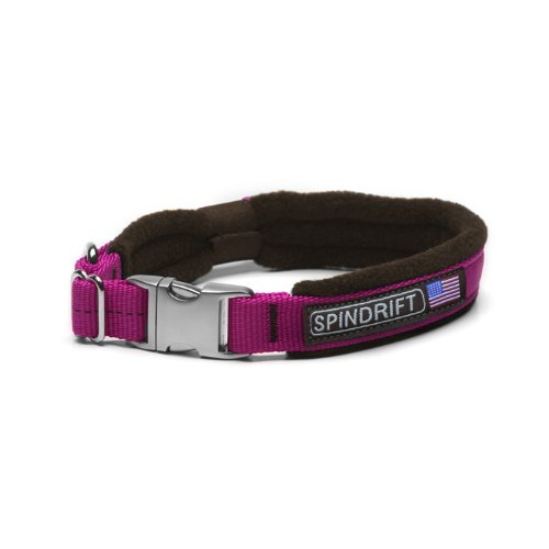 "Spindrift 184 Super Strong Fleece Lined Cozy Dog Collar - Medium (3/4"" x 16-20""), Brick"