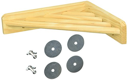 Prevue Pet Products BPV3300 Wood Corner Shelf Laddered Platform for Bird Cages, 7 by 7-Inch
