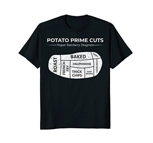 Potato Prime Cuts T-Shirt Funny Vegan Gift ()