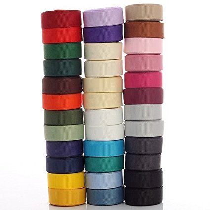 (Petersham Grosgrain Ribbon for Crafts, 15mm, 18 Col Mix Economy or Buy 4 Meters)