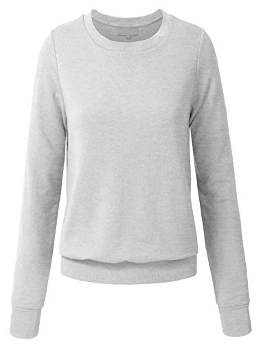 NE PEOPLE Women Basic Pullover Crew Neck Sweatshirt 13 Colors (Sweatshirt Crewneck People)