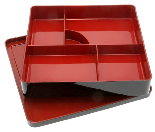 Kotobuki Lacquer Japanese Bento Box with 5-Divided Compartments, Lid ()