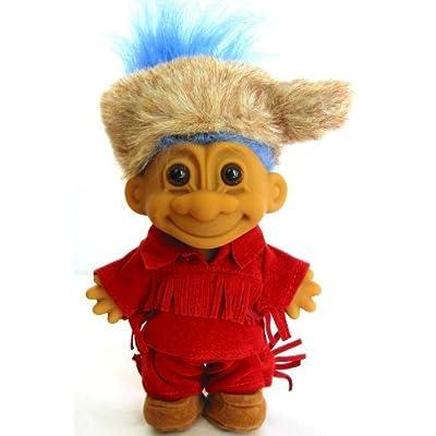 Russ Berrie My Lucky Frontier Troll (Blue Hair): Toys & Games