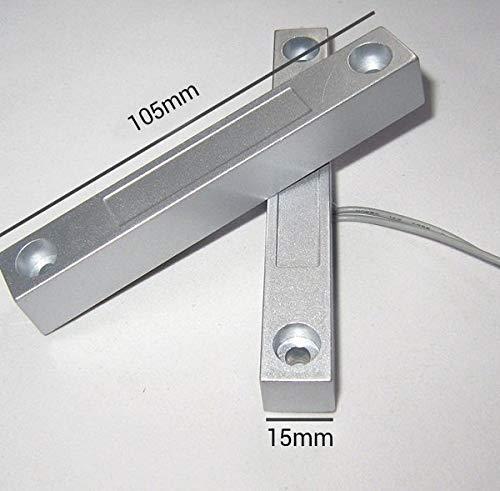 Sensor apertura puertas magnetico con cable WD101 cableado contacto para centrales de alarma conexion detectores cable