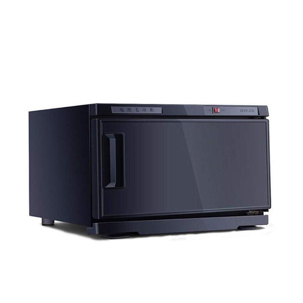 Noir BL Towel Warmers Chauffe-Serviettes Chauffant st/érilisateur 2 en 1 25L // 50L UV avec st/érilisateur pour Serviette avec Support en INOX Salon de beaut/é Spa 25L h/ôtel et Famille
