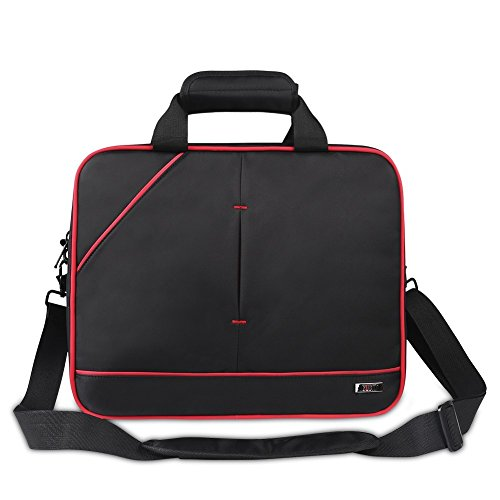 BUBM Travel Carrying Case Protection Shoulder Bag Handbag for Nintendo Wii U Console Gamepad Controller Charge Adapter All Accessories