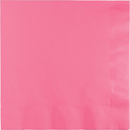 Creative Converting 240 Count Celebrations Beverage Paper Napkins, Candy Pink (Creative Converting Candy)