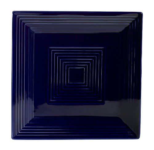 CAC China TG-SQ8CBU Tango Cobalt Blue Porcelain Square Plate, 8-Inch, Box of 24
