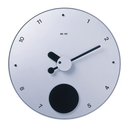 REXITE 掛け時計 大判(ウォールクロック)CONTRATTEMPO(コントラテンポ) シルバー B00464AF6A シルバー シルバー