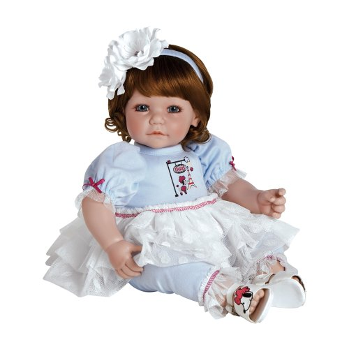 "Toddler Paris Poodle 20"" Girl Doll Gift Set Huggable Vinyl C"