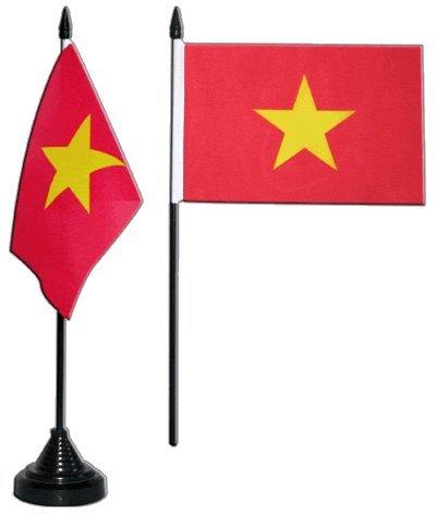 Digni Drapeau de table Viêt Nam Vietnam, mini drapeau - 10 x 15 cm