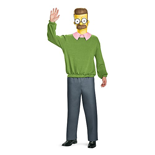[Disguise Men's Ned Flanders Deluxe Adult Costume, Multi, X-Large] (Ned Flanders Costumes)