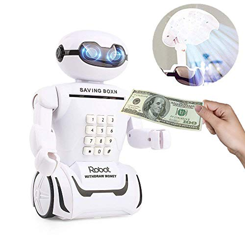 XSMP Creativo Electrónico Piggy Bank Safe Cash box Robot Music Ahorro Money box Banco de Monedas Coin Box Escritorio...