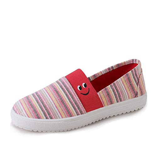 cheap York Zhu Womens Flat Shoes Round Toe Girl Canvas Loafers Flats Shoes save more