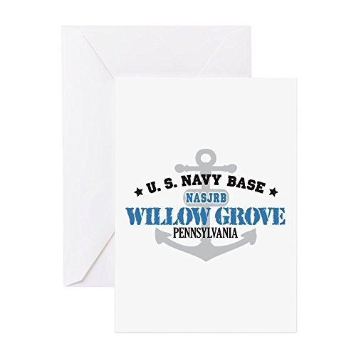 CafePress - US Navy Willow Grove Base - Greeting Card, Note Card, Birthday Card, Blank Inside (Matte Willow)