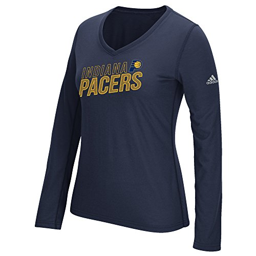 fan products of NBA Indiana Pacers Women's Stacked Long Sleeve Ultimate Tee, Large, Navy