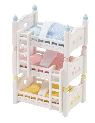 Calico Critters Triple Baby Bunk Beds New