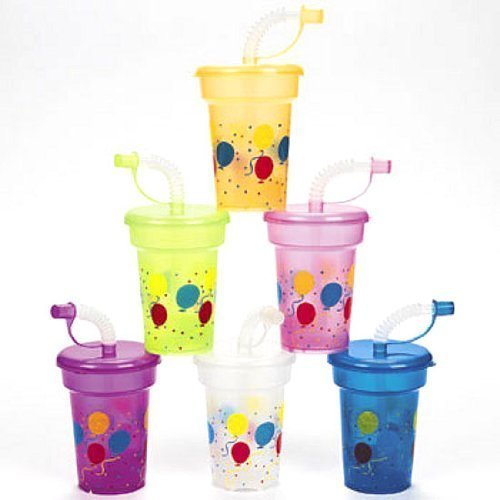 Fun Express Birthday Party Mini Sipper Cups (1 Dozen) -