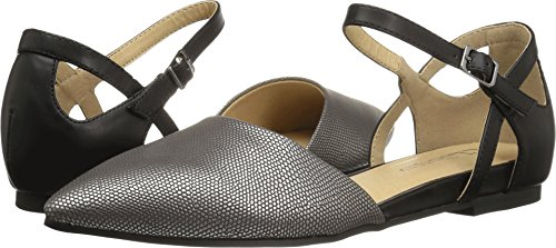 CL by Chinese Laundry Women's Helena Pointed Toe Flat, Pewter/Black Lizard, 7.5 M US
