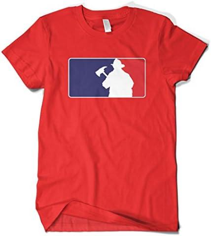 Cybertela Mens Firefighter American Flag Colors Logo Tank Top
