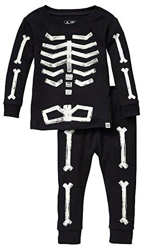 BabyGap Baby Gap Factory Black Skeleton Glow-In-The-Dark Pajamas 2 Years ()